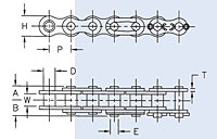 Dimensions<!--ANSI Roller Chain Single Strand-->